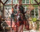 Opium Dreams Garden Party Gypsy Caftan Tassel Dress by Louise Black