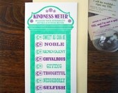 letterpress customizable vintage arcade kindness thank you meter greeting card pack