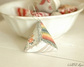 One French Ticking, Silk Ombre, Floral Stripe, Triangle Pin Cushion Pin Keep Ornament