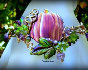 Amethyst Pumpkin Harvest Bracelet