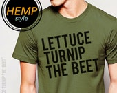 ORGANIC lettuce turnip the beet ® trademark brand official site - green hemp and organic cotton shirt with classic logo