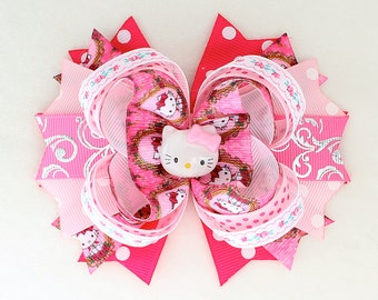 Hello Kitty Hair Bow Barrette