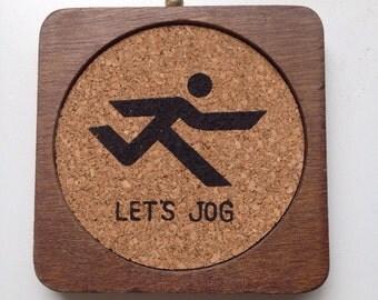 Let's Jog Rare Vintage Coaster Set