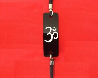 Om Bracelet - Celebrate Yoga - hand painted Sanskrit