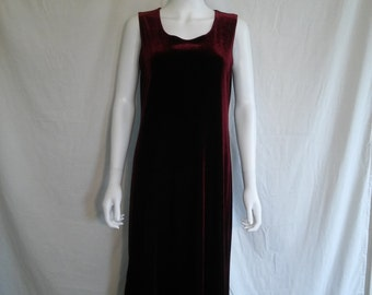 Velvet 90s long  stretch velvet dress  Burgundy