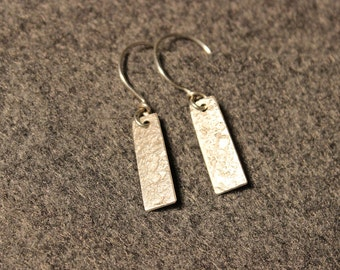 Sterling Silver Tag Earrings