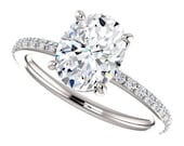 Private Listing for Aidan - eliza ring - oval forever one moissanite engagement ring, 2 carats