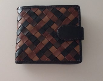 Weaved Leather Wallet