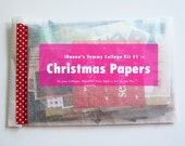 Yummy Christmas Paper Kit for collage and journaling (kit 1)