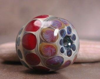 Lampwork Focal Bead Boro Lines and Dots Series Divine Spark Designs SRA Leteam