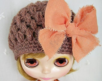 Hat for Blythe Doll, Bubble Crochet