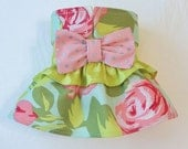 Female Dog Diaper Skirt  Perfect for your dog in Season and House Training Painted Roses and Dots