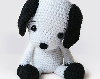 Amigurumi Crochet Dog Pattern - Flecky the Dog - Softie - Plush