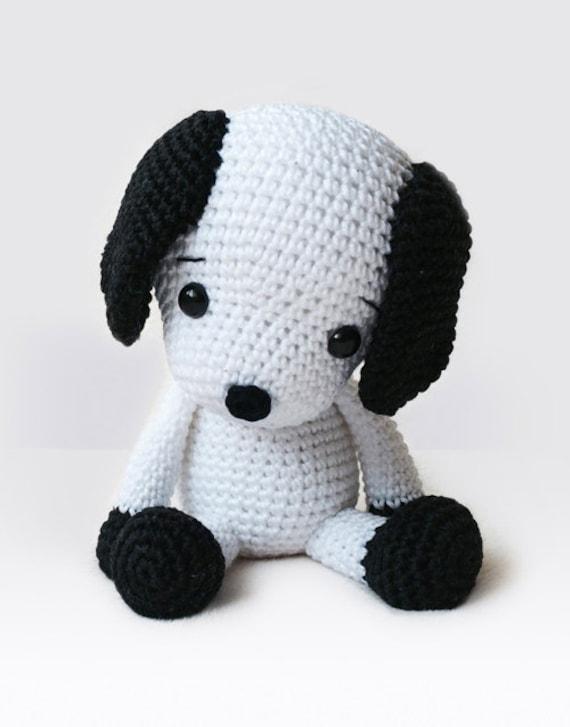 Domino The Dog Amigurumi Crochet Pattern : Amigurumi Crochet Dog Pattern Flecky the Dog Softie
