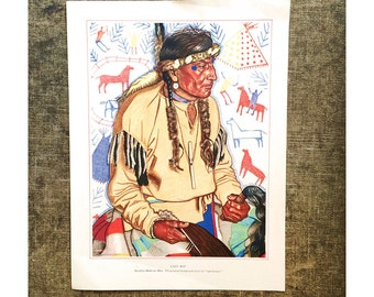 1940s Blackfoot Indian Print by Winold Reiss