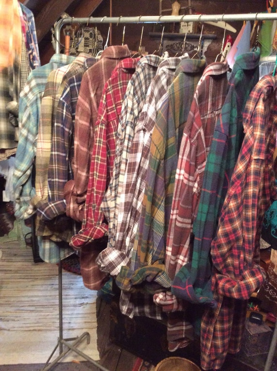 Bridesmaid Flannel,Bridal Party Collection, Men's Flannels,Vintage,Rustic Wedding,going to and getting Ready flannels