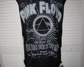 sexy PINK FLOYD classic rock band 70s music t shirt DIY cut up backless tank top