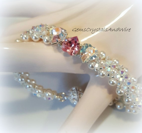Tutorial, Swarovski Bracelet, downloadable tutorial, Beaded Instruction, Instructional, Lesson, Bead Weaving