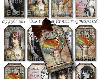 Gypsy In My Soul, gift tags,tag collage sheets,INSTANT Download at Checkout, printable gift tags,boho, fortune tellers, gypsies,tarot reader