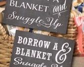 PRINTABLE Custom Borrow a Blanket // Chalkboard Wedding Sign // Reception Sign // Wedding Sign // DIGITAL