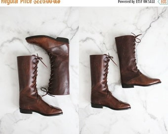25% OFF SALE lace up boots / leather boots 5 / size 4.5 boots