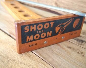 Free Shipping Shoot The Moon Wood/Steel Gravitation Game Original Vintage 1959 by Drueke