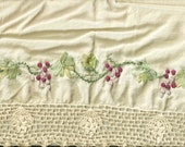 Vintage Crochet Edge VALANCE Designed in Ribbon & Embroidery FREE SHIPPING