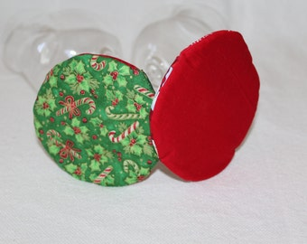 Christmas Tree Fabric Coasters set of 4
