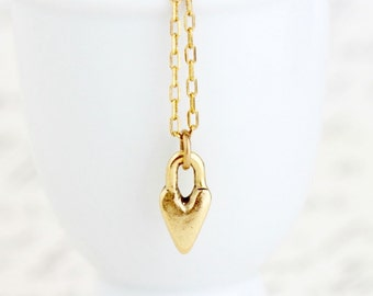 Romantic Necklace - Heart Necklace - Love Necklace - Dainty Gold Necklace - Gift For Girlfriend - Wife - Romantic Gift Heart Necklace