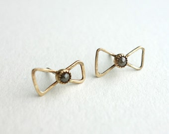 Handmade Natural Rose Cut Diamonds in 14k Gold