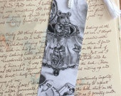 Alice In Wonderland Bookmark Dormouse Bookmark Fantasy Art Gothic Art Mouse Bookmark Teapot Bookmark
