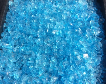 Light Blue Glass Chips