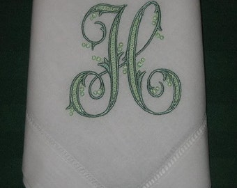 Personalized Napkins, Linen hemstitched dinner napkins, Set of 12 with FREE shipping in the US