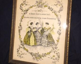 Antique Good Deed Print