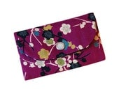 The Metro Wallet with Japanese branches on purple - reserved for Lisa