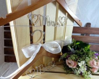 Bridal Wedding Hangers Bride Coat Hanger Bridal Accessories Wedding Dress Hangers Wire Wedding Hangers Personalized Hangers Custom Hangers