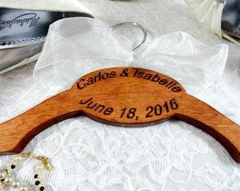 Wedding Dress Hanger - Handmade New Design - Engraved No Wire - Personalized Bride Hangers - Wedding Photo Props - Custom Name Hanger
