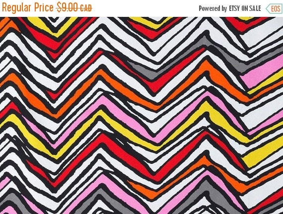 SALE - Chevron - IKEA Lyndby Cotton Fabric