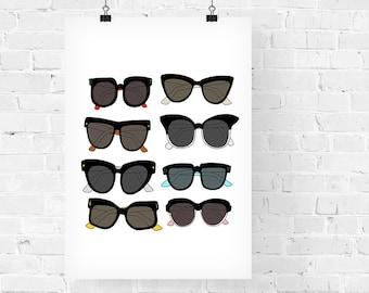 Sunglasses Fashion Illustration Art Print