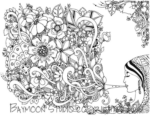 gypsy coloring pages | Gypsy Music Coloring Page Printable Coloring by BAYMOONSTUDIO