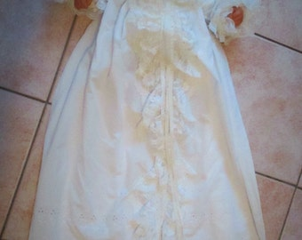 Vintage 50's Christening Gown Lacy Baptisimal gown 40's or fifties
