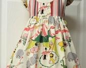 Vintage Circus Dress  - Size 1 thru 8 Hummingbird Dress