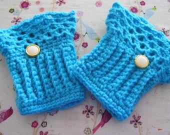 Crochet Steampunk Wrist Arm Warmers Hand Warmers