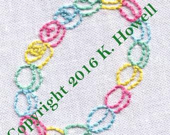 Baby Bracelet Hand Embroidery Pattern, PDF