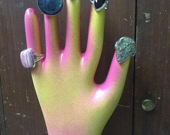 Vintage Porcelain Glove Mold Pink Yellow Sale