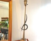Mid Century Rembrandt Torchiere Table Lamp Modern Steel Copper