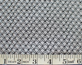 Fish Net black on grey FABRIC Kristen Berger Fishline Fabric for Maywood Studio MAS8858-K