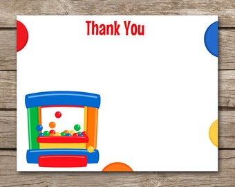 PRINTABLE Bounce House Thank You Cards, Bounce House Birthday Thank You, Bounce House Party Thank You, Bounce Party, INSTANT DOWNLOAD