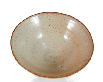 Ceramic Bowl  - Rust Cream (3 1/2 cups) - Handmade Art Vessels - Art Pottery - Ready to Ship