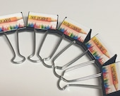 TEACHER ORGANIZERS Binder Clip Set PENCILS